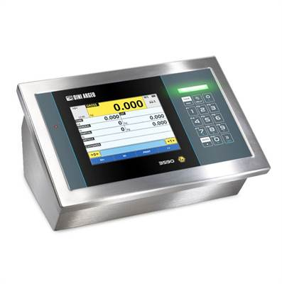 Weighing indicator touch screen ATEX/IECE for zone 2/22. IP68 Stainless steel.