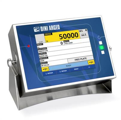 "Weighing indicator with 8"" color touch screen, 4 channels, stainless, IP68"