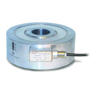 Load cell C10 25kN in stainless steel IP67. Compression and tension.