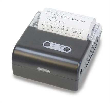 Thermal printer, wireless infrared connection to Sauter HN, HMM and HMO