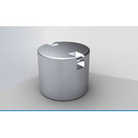Control weight Zwiebel 20kg, F2 cylindrical stainless with handle. Incl certificate.