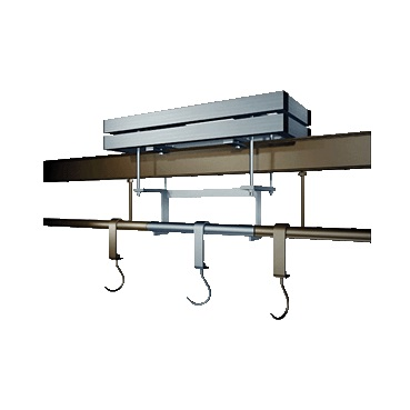 Overhead monorail weighing scale, 1 aluminium load cell IP66. 300kg/100g.