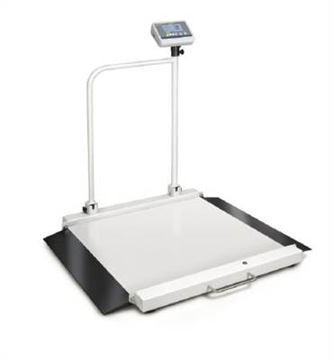 Wheelchair platform scale with ramps and handrail. Kern MWA 300kg/0,1 kg. Verification class III