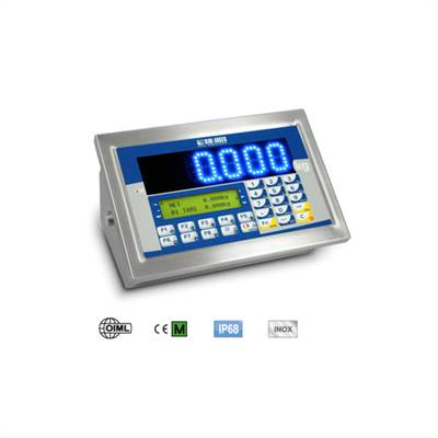 Weighing indicator stainless IP68, Multi color LED 40mm,4 channels.