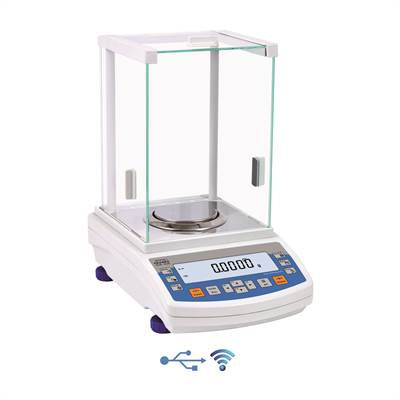 Analytical balance 220g/0,1mg (0,01mg to 82g). OIML. Intern Cal. Radwag.