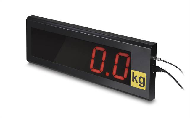 Large display to Kern KFN-A01 with superior display size, digit height 76 mm
