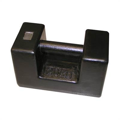 Rectangular cast Iron weight 10kg with RISE, Zwiebel or CIBE report with tolerance according to M1