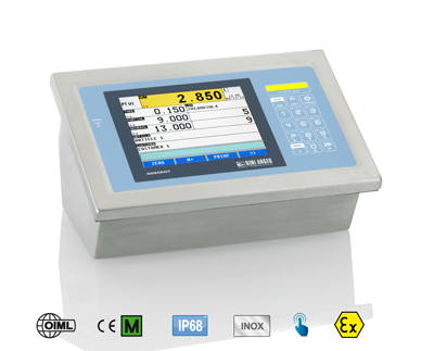 Colour touch screen indicator for ATEX 2 & 22 zones