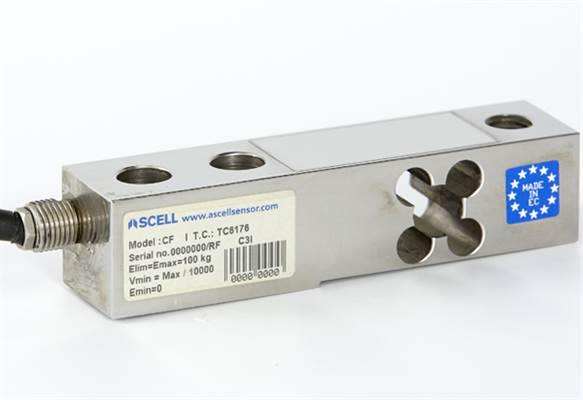 Load Cell Shear Beam 500 kg. Stainless steel. IP68, OIML C3