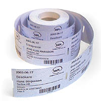 Label roll direct hermo, 75x75mm, 1000pcs.