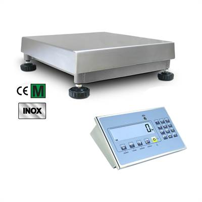 Floor scale 150kg/10g, 400x400x140mm, IP67/IP68 stainless