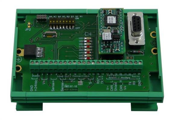 Weighing transmitter Profibus DIN bar Version