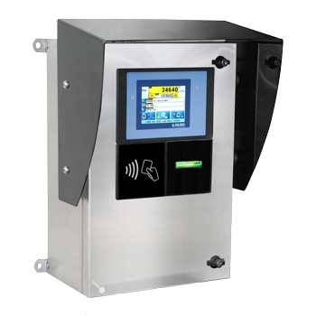 Self-service system with RFID reader for weighbridge management