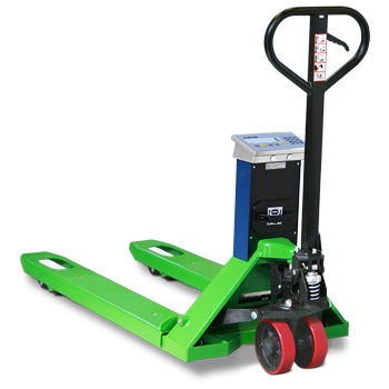 Pallet truck scale 2 tonnes. Wide forks. With thermal printer.