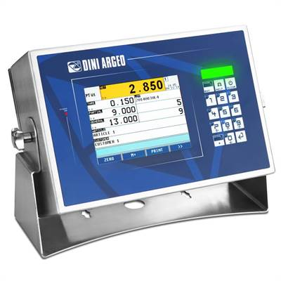 "Weighing indicator with 5,7"" color touch screen, 4 channels, stainless, IP68"