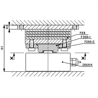 Buy Loading head with support for Load cell VZ266A 5ton