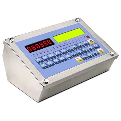 Weighing indicator in stainless, can display 4 channels at the same time.
