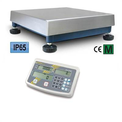 Bench scale 150kg/10g with counting functions Kern. 400x400x140mm, IP65.