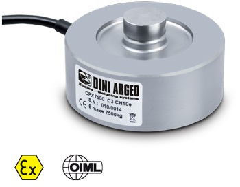 Load cell 2500 kg, OIML C3. Stainless IP68