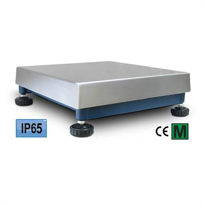 Weighing platform 30kg, 400x400x140mm, IP65 stainless cover.