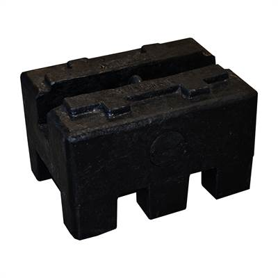 Rectangular cast Iron weight. 200kg with RISE, Zwiebel or CIBE report with tolerance according to M2