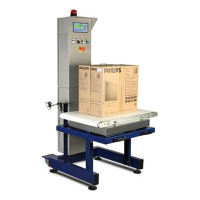 Automated weighing for +/- weight checking, 6kg/2g, 15kg/5g or 30kg/10g