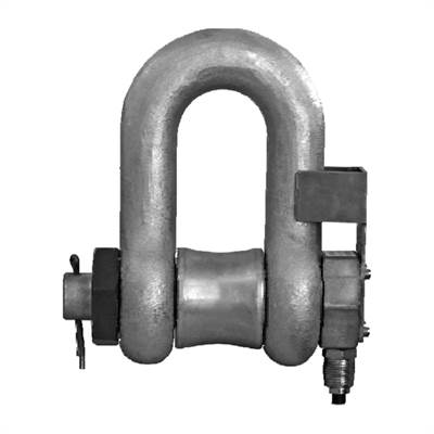 Shackle (steel) wih integrerated load cell (stainless) 100tonne