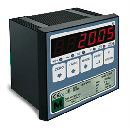 Weighing indicator for panel mounting. 2 alarm. 4-20 mA.