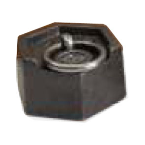 Hexagonal Cast Iron weight with lift ring. 10kg, M3.
