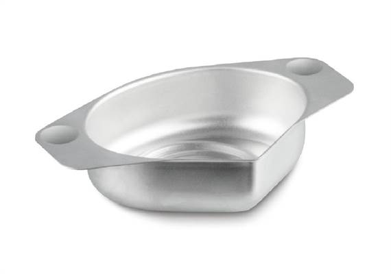 Precious stones plate, aluminium with practical spout 83×66×23 mm