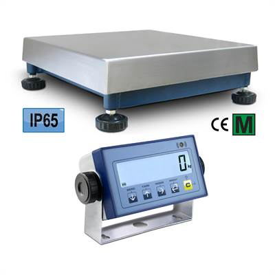Bench scale 60kg/5g, 400x400x140mm, IP65/IP54